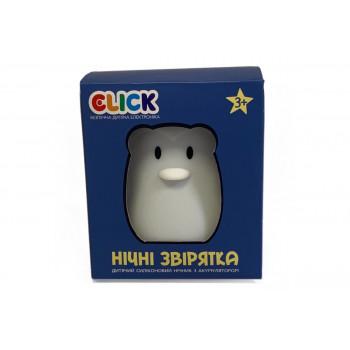 Ночник детский Click Пингвин силиконовый