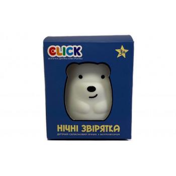 Ночник детский Click Медвежонок силиконовый