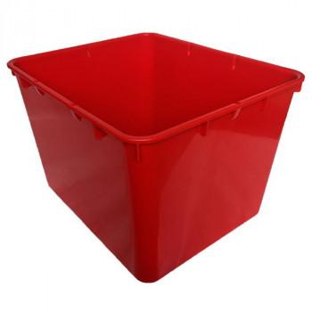 Контейнер пластиковый открытый красный