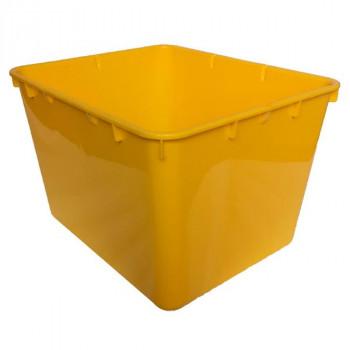 Контейнер пластиковый открытый желтый