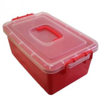 Контейнер пластиковый большой красный