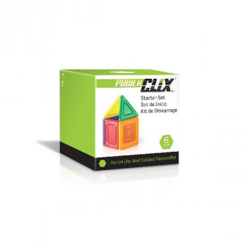 Конструктор PowerClix Solids Базовый набор, 6 деталей