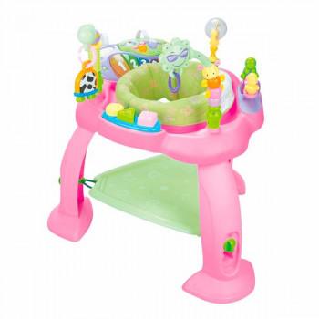 Игровой развивающий центр Музыкальный стульчик, розовый