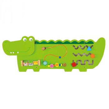 """Настенная игрушка бизиборд """"Крокодил"""""""