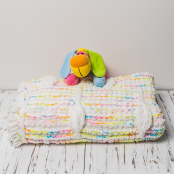 Плюшевый детский плед ручной работы 100x120 см Цветной