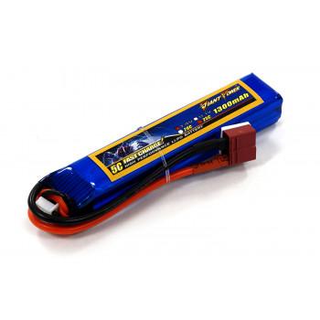 Акумулятор для страйкболу Giant Power Li-Pol 7.4V 2S 1300mAh 25C 16х20х103мм...