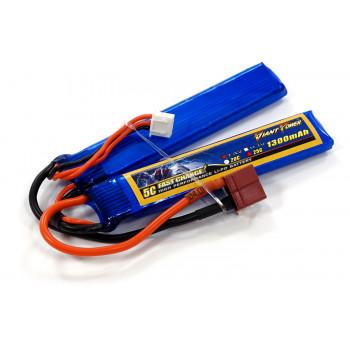 Акумулятор для страйкболу Giant Power Li-Pol 7.4V 2S 1300mAh 25C 2 пелюстки...