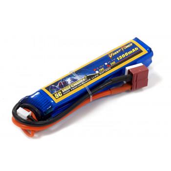 Акумулятор для страйкболу Giant Power Li-Pol 7.4V 2S 1300mAh 25C 17х18.5х95мм...