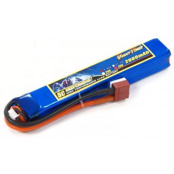 Акумулятор для страйкболу Giant Power Li-Pol 7.4V 2S 2000mAh 25C 20х21х126мм...