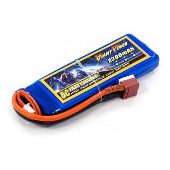 Аккумулятор для страйкбола Giant Power Li-Pol 7.4V 2S 2200mAh 25C 16х33х102мм...