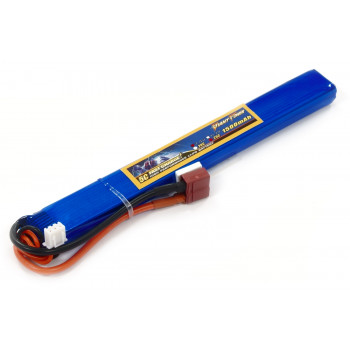 Акумулятор для страйкболу Giant Power Li-Pol 7.4V 2S 1500mAh 25C 15х19х167мм...