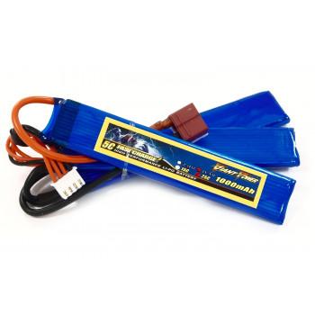 Аккумулятор для страйкбола Giant Power Li-Pol 11.1V 3S 1000mAh 25C 3 лепестка...