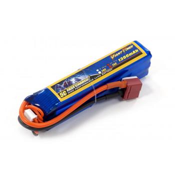 Акумулятор для страйкболу Giant Power Li-Pol 11.1V 3S 1300mAh 25C 24х20х96мм...