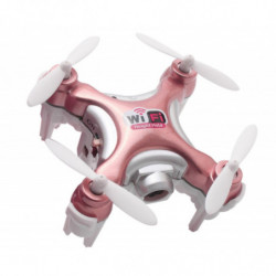 Квадрокоптер нано Cheerson CX-10WD-TX с камерой Wi-Fi (розовый)