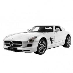 Машинка р/у 1:24 Meizhi лиценз. Mercedes-Benz SLS AMG металлическая (белый)