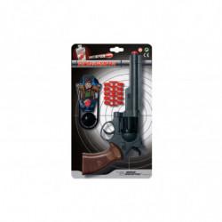 Пистолет EDISON Ron Smith 28см 8-зарядный с мишенью и пульками (463/33)