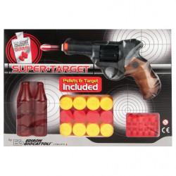 Пистолет EDISON Supertarget 19см 6-зарядный с мишенями и пульками (480/21)