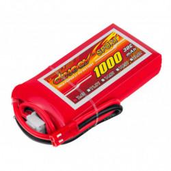 Аккумулятор Dinogy Li-Pol 1000mAh 7.4V 2S 30C 14x35x68мм JST