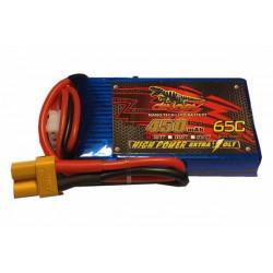 Аккумулятор Dinogy Li-Pol 450mAh 7.4V 2S 65C XT30