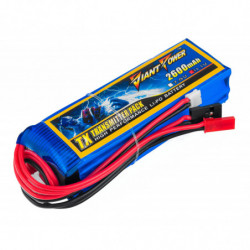 Аккумулятор Giant Power Li-Pol 2600mAh 11.1V 3S 3C 25x31x97мм Futaba+JST для...