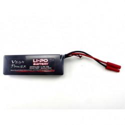 Li-Po Battery (7.4V 2000mAh 2S 25C) w/Banana Plug