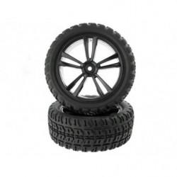 Колеса 1:10 Black Short Course Front Tires and Rims (31211B+31404) 2P