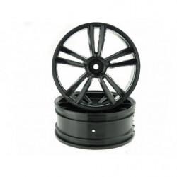 Диски передние 1:10 Front Black Rims 2P