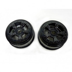 (8E132BL) Black Rims For Short Course Truck 2P