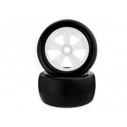 1:8 White Rim & Tire Complete for Truggy (823001W+823002) 2P