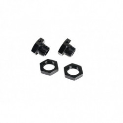 Team Magic E6 Wheel Adapter Set BK 2p
