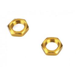 Team Magic Serrated Wheel Nut Gold 2p