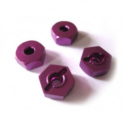 (02134) Purple Alum Wheel Hex Mount 4P