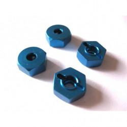 (02134) Blue Alum Wheel Hex Mount 4P