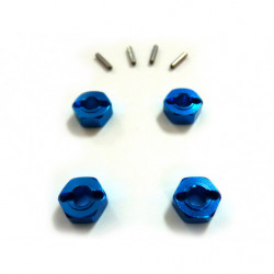 (82906) Blue Alum Wheel Hex 4P