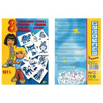 Трафареты Malinos для девочек (набор L)