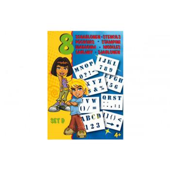 Трафареты Malinos английский алфавит (набор D)