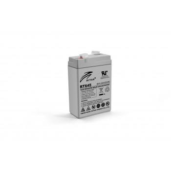 Аккумуляторная батарея AGM RITAR RT645, Gray Case, 6V 4.5Ah