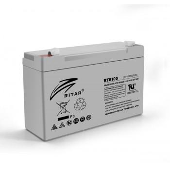 Аккумуляторная батарея AGM RITAR RT6100, Gray Case, 6V 10Ah