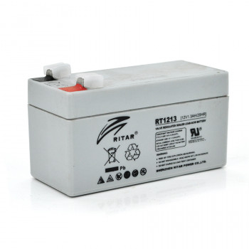 Аккумуляторная батарея AGM RITAR RT1213, Gray Case, 12V 1.3Ah