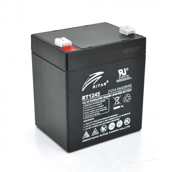 Аккумуляторная батарея AGM RITAR RT1245B, Black Case, 12V 4.5Ah