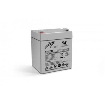 Аккумуляторная батарея AGM RITAR RT1245, Gray Case, 12V 4.5Ah