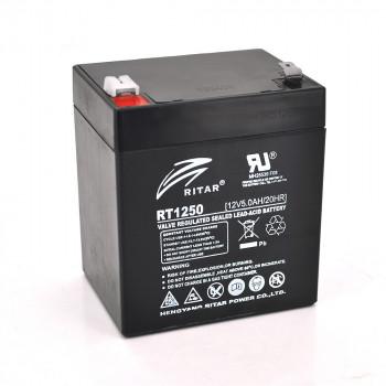 Аккумуляторная батарея AGM RITAR RT1250B, Black Case, 12V 5.0Ah