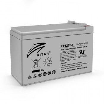 Аккумуляторная батарея AGM RITAR RT1270A, Gray Case, 12V 7.0Ah