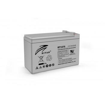 Аккумуляторная батарея AGM RITAR RT1275, Gray Case, 12V 7.5Ah