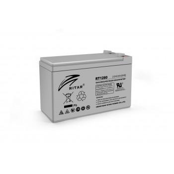 Аккумуляторная батарея AGM RITAR RT1280, Gray Case, 12V 8.0Ah