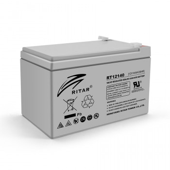 Аккумуляторная батарея AGM RITAR RT12140H, Gray Case, 12V 14.0Ah