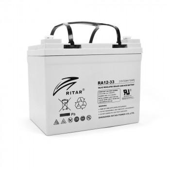 Аккумуляторная батарея AGM RITAR RA12-33, Gray Case, 12V 33.0Ah