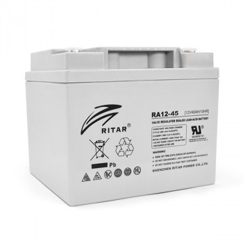 Аккумуляторная батарея AGM RITAR RA12-45, Gray Case, 12V 45.0Ah