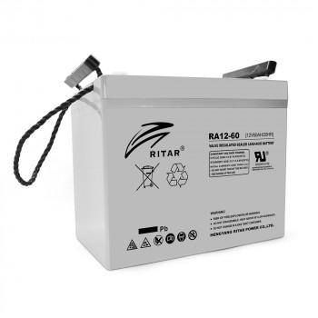 Аккумуляторная батарея AGM RITAR RA12-60, Gray Case, 12V 60.0Ah