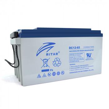 Аккумуляторная батарея глубокого разряда AGM RITAR DC12-65, Gray Case, 12V 65Ah